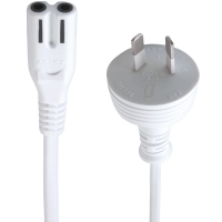2m IEC C7 Power Cable (IEC-C7 Appliance Power Cord) - WHITE (Thumbnail )