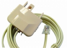 2m Telephone Cord: RJ12 plug to Australian Plug (Photo )
