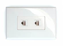 2x Cat6 Wall Plate (2 x RJ45 Female)
