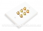 2x Component Video Home Theatre Wall Plate (Thumbnail )