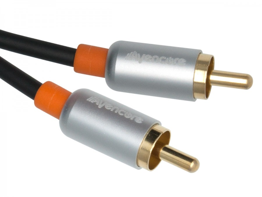 30cm Avencore Crystal Series Digital Coaxial Cable & CVBS Composite Video Cable (Photo )