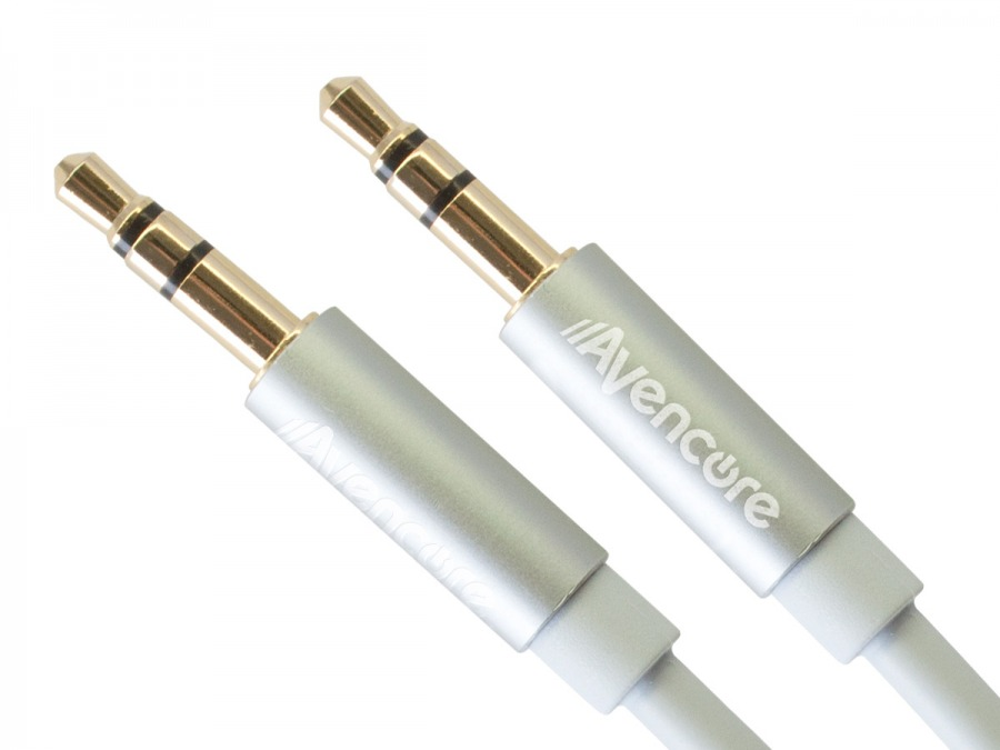 30cm Avencore Crystal Series 3.5mm Stereo Audio Cable