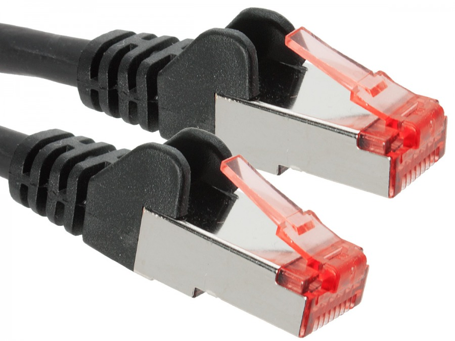 3m CAT6A Professional RJ45 Shielded Ethernet Cable (Black)