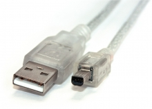 3m USB 2.0 Hi-Speed Cable (A to Mini-B 4 Pin) (Photo )