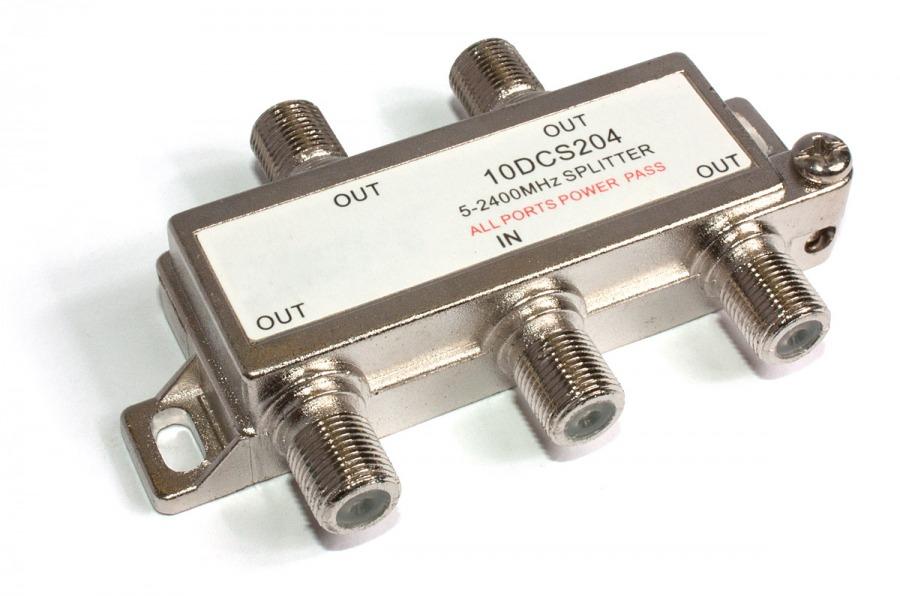 4 Way Foxtel Splitter (F-Type Coaxial Splitter) (Photo )