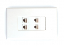 4x Cat6 Wall Plate (4 x RJ45 Female)