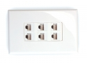 6x Cat6 Wall Plate (6 x RJ45 Female)