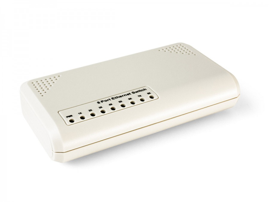 8-Port 10/100 Ethernet Switch (PC Network Switch) (Photo )