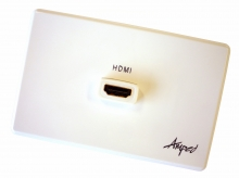 Amped Classic Single HDMI (White Wall Plate)