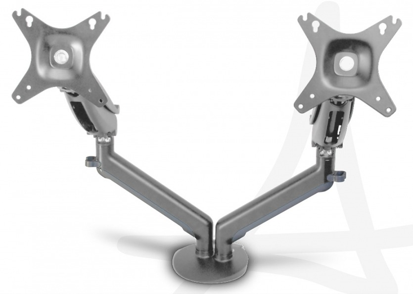 "Amped: Seismic Dual Arm, Dual Monitor Desk Mount (2 x 8.5kg, 12"" - 30"" Screen)"