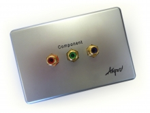Amped Slimline Component (Brushed Aluminium Wall Plate)