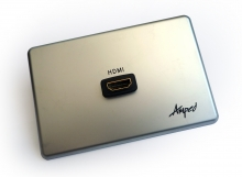 Amped Slimline Single HDMI (Brushed Aluminium Wall Plate)