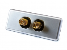 Amped Slimline Single Speaker Architrave (Brushed Aluminium Plate)