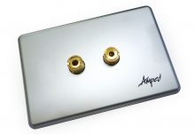 Amped Slimline Single Speaker (Brushed Aluminium Plate) (Photo )