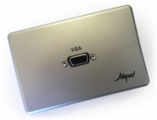 Amped Slimline VGA (Brushed Aluminium Wall Plate)