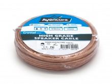 Avencore 10m Roll High-Grade 99.9% Oxygen Free 16 AWG 2-Core Speaker Cable