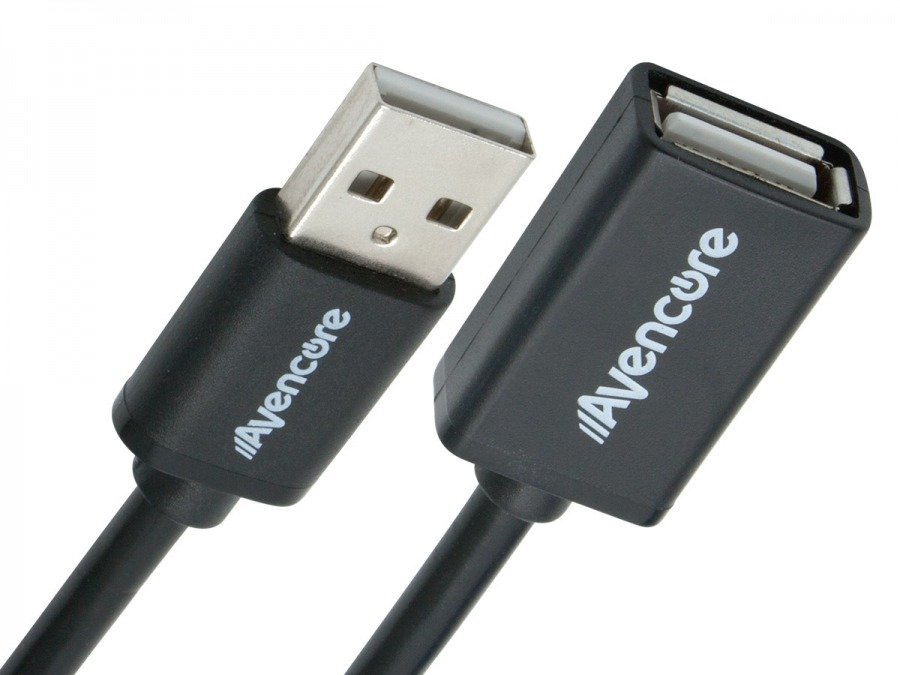 Avencore 1m Hi-Speed USB 2.0 Extension Cable (Type-A, Male to Female) (Photo )