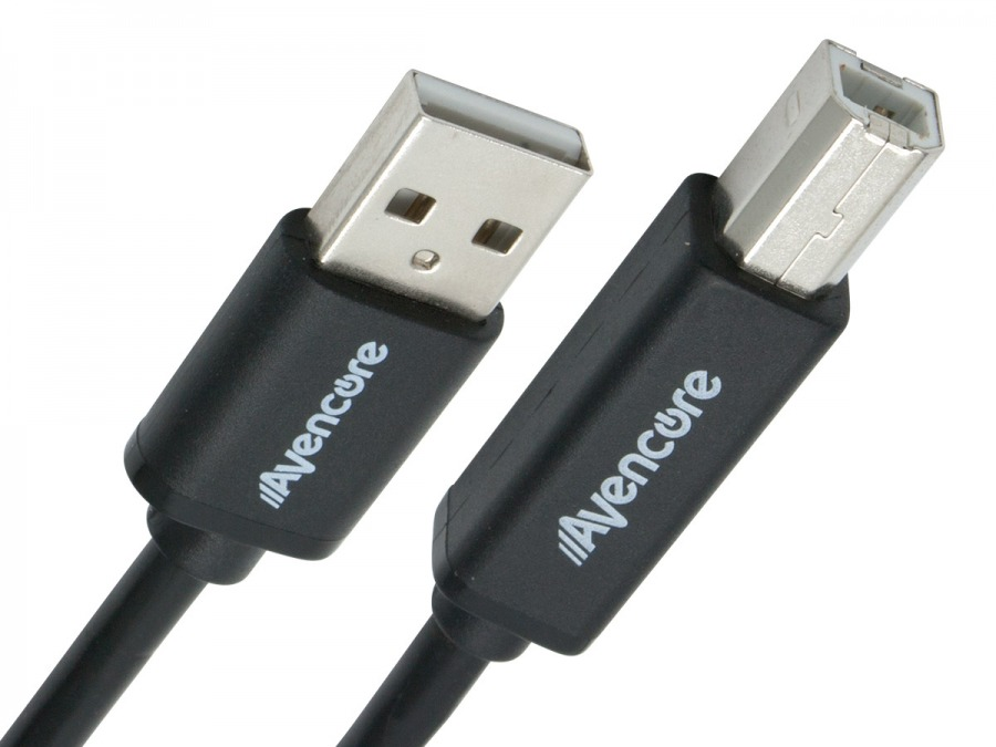 Avencore 1m Hi-Speed USB 2.0 Printer Cable (Type A-Male to B-Male) (Photo )