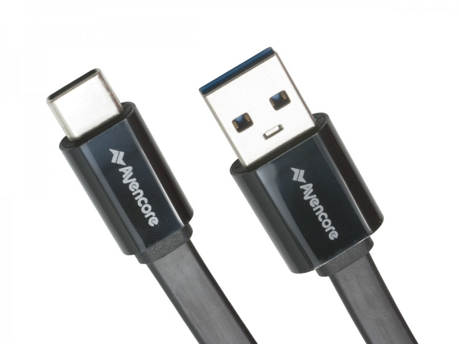 Avencore 1m SuperSpeed USB Type-C to Type-A Cable (Black) (Photo )