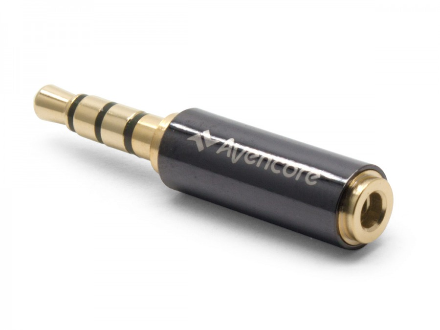 Avencore 4-Pole TRRS 2.5mm (Female) to 3.5mm (Male) Adaptor (Photo )