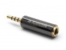 Avencore 4-Pole TRRS 3.5mm (Female) to 2.5mm (Male) Adaptor