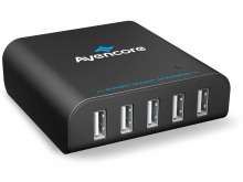 Avencore Avalanche 40W Premium 5-Port USB Charger with 5x Smart-Charging