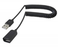 Avencore Coiled USB 2.0 Hi-Speed Extension Cable (Type-A Male to Female) (Thumbnail )