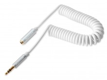 Avencore Crystal Series 1.5m Coiled 3.5mm Stereo Extension Cable (Male to Female) (Thumbnail )