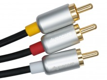 Avencore Crystal Series 2.5m AV Cable (3RCA Composite Video + L / R Audio) (Thumbnail )