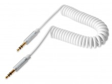 Avencore Crystal Series 3m Coiled 3.5mm Stereo Cable (Male to Male) (Thumbnail )