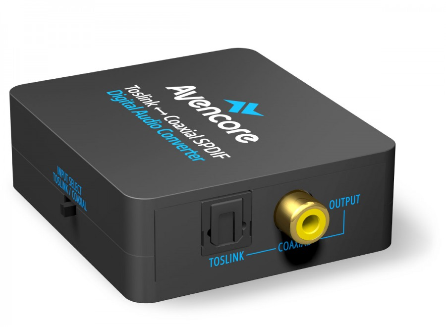 Avencore Digital Audio Converter: Bi-Direction TOSLINK to Digital Coaxial (Photo )