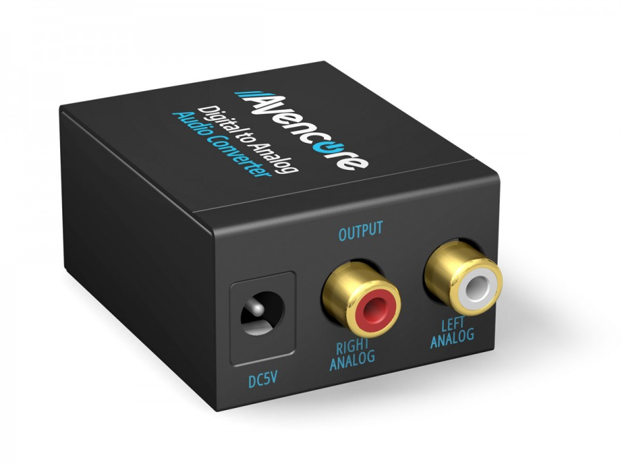 Avencore Digital to Analog Audio Converter (TOSLINK & Digital Coaxial to Stereo Audio) (Photo )