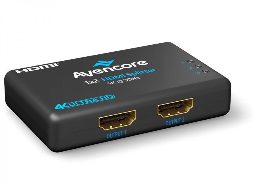 Avencore Halon Series Ultra HD 4K Powered 2-Way HDMI Splitter & Extender (Photo )
