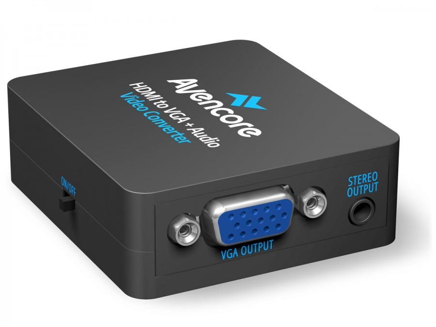 Avencore HDMI to VGA + 3.5mm Stereo Audio Converter (Photo )