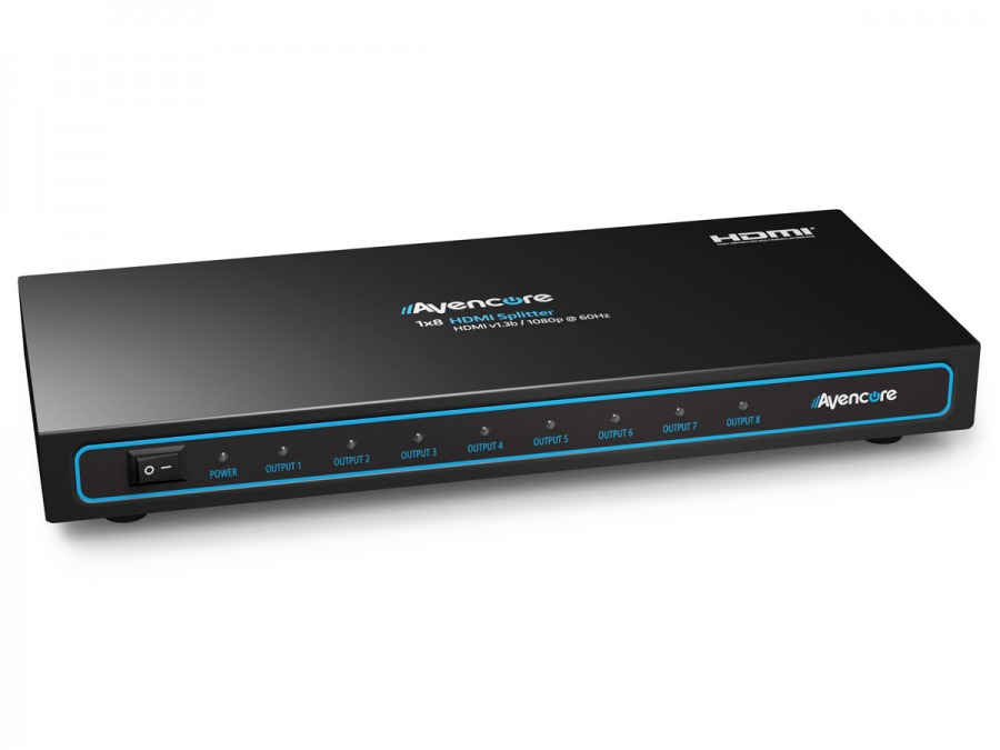 Avencore Powered 8-Way HDMI Splitter (HDMI v1.3b with 3D Support & CEC) (Photo )