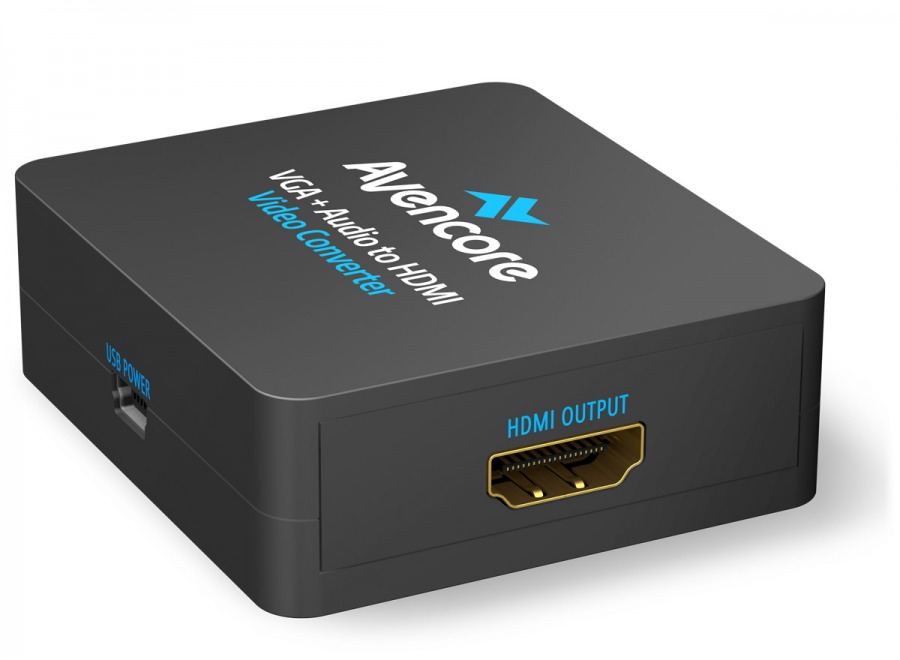 Avencore VGA + 3.5mm Stereo Audio to HDMI Converter (Photo )