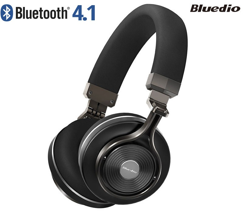Bluedio T3 Bluetooth 4.1 Wireless Headphones with 3.5mm Audio Sharing