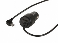In-Car GPS Charger with Right-Angle USB Mini-B Connector