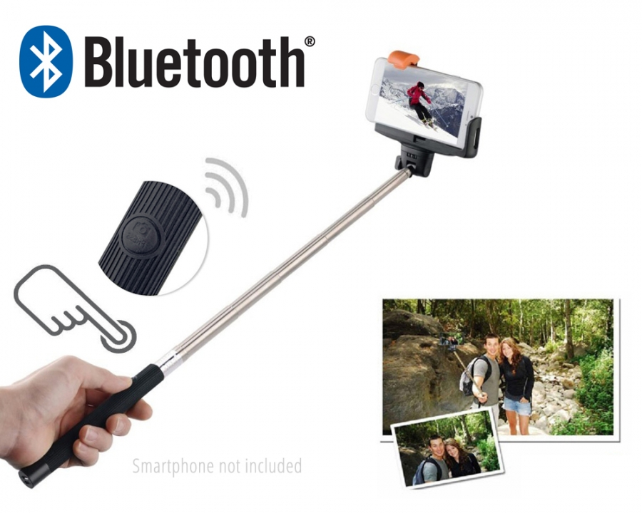 extendable bluetooth selfie stick pro ios android. Black Bedroom Furniture Sets. Home Design Ideas