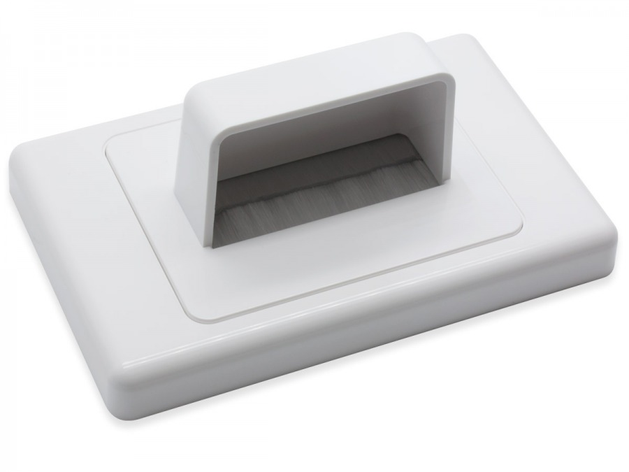 Bullnose Wall Plate with Brushed Entry for Cables