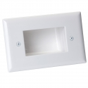 Bullnose Wall Plate with Deep Recessed Entry for Cables (Thumbnail )
