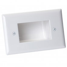 Bullnose Wall Plate with Deep Recessed Entry for Cables