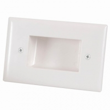 Bullnose Wall Plate with Recessed Entry for Cables