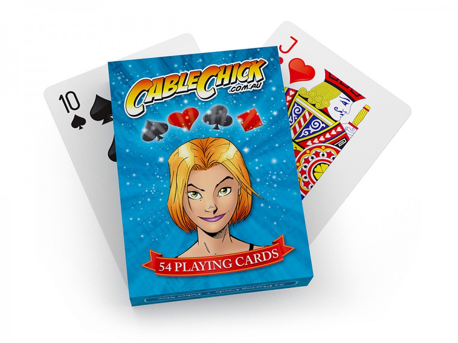 Cable Chick Playing Cards - 54 Card Deck