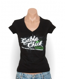 Cable Chick Urban T-Shirt - Size 10 (Womens) (Photo )