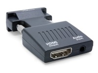 Compact VGA + Audio to HDMI Converter (In-line, USB Powered)