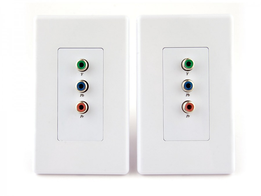 Component Video over CAT5 Balun / Extender Wall Plate (Up to 100 Metres)
