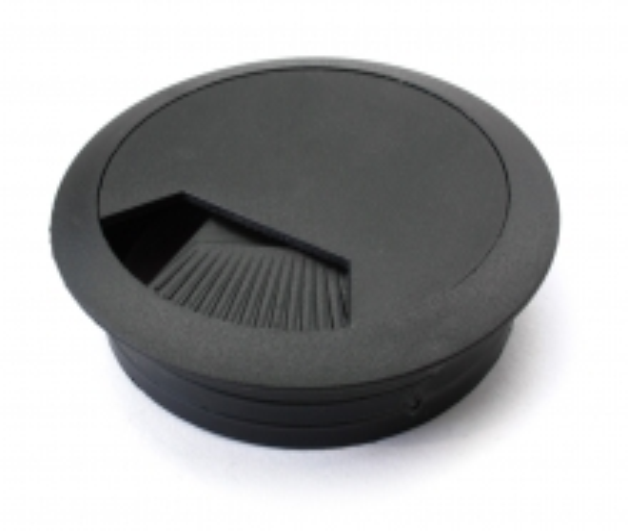 Desk Grommet - 60mm Black