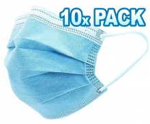 Disposable 3-Layer Face Masks (10 Pack) (Thumbnail )