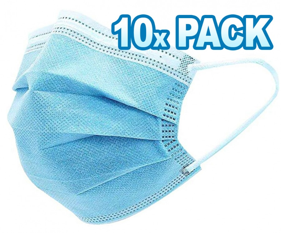 Disposable 3-Layer Face Masks (10 Pack) (Photo )